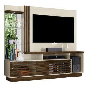 Estante Home Theater para TV até 60 Madetec Frizz Plus Off White/Savana