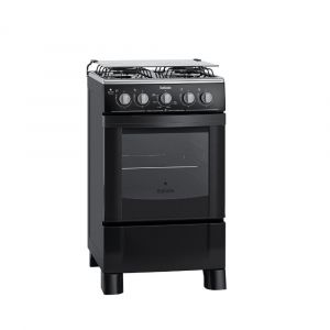 Fogão 4 bocas Itatiaia Star Preto, acendimento automático e forno autolimpante