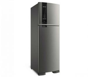 Refrigerador Brastemp BRM53HKBNA Frost Free Duplex 400 Litros Platinum com Espaço Adapt 220V