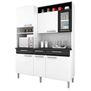 Kit Cozinha Itatiaia Regina i31vg3-155 branco/preto