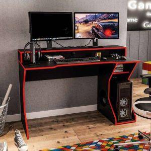 Mesa para Computador Politorno Fremont Preto/Vermelho