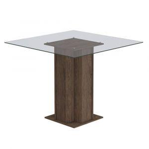 Mesa para Sala de Jantar 4 cadeiras Melissa tampo de vidro Sophia Cimol Marrocos