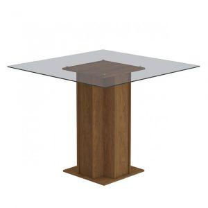 Mesa para Sala de Jantar 4 cadeiras Melissa tampo de vidro Sophia Cimol Savana