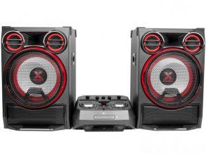 Mini System LG CK99 Bluetooth USB CD Player AM/FM MP3 4100W 2 Caixas Xboom