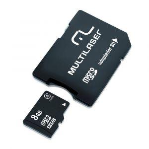 Multilaser Cartão De Memória Micro Sd 8gb + Adaptador Sd Mc004