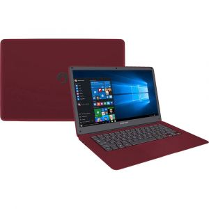 Notebook Positivo Motion Q232A Intel Atom Quad Core Z8350 Tela LCD 14 Windows 10 2GB 32GB SSD Vermelho
