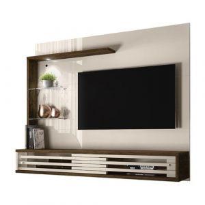 Painel com Bancada Suspensa para TV até 50 Frizz Select Savana/Off White