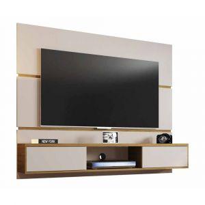 Painel para TV até 65 Polegadas 2 Portas Âmbar Móveis Bechara Off White com Cinamomo