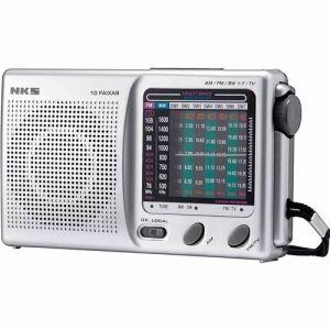 Rádio Portátil com 10 Faixas, Sintonizador de TV e AM/FM/SW NKS AC-117