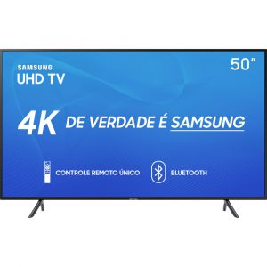 Smart TV 4K LED 50 Samsung UN50RU7100 Wi Fi HDR 3 HDMI 2 USB