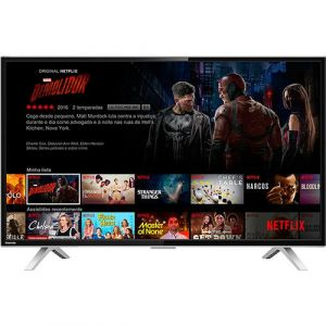 Smart TV LED 40 Toshiba 40L2600 Full HD com Conversor Digital 3 HDMI 2 USB Wi-Fi 60Hz - Preta