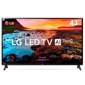 Smart TV LED 43 Full HD LG 43LK5750PSA com IPS, Inteligência Artificial ThinQ AI, WI-FI, Processador Quad Core, HDR 10 Pro, HDMI e USB