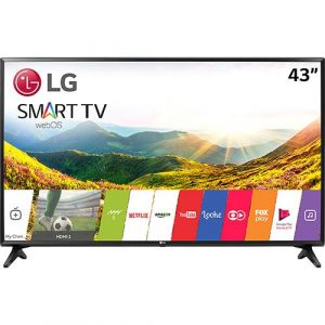 Smart TV LED 43 LG 43lj5500 Full HD com Conversor Digital Wi-Fi integrado 1 USB 2 HDMI Com Webos 3.5 Sistema de Som Virtual Surround Plus