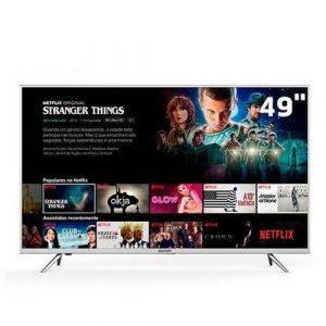 Smart TV LED 49 UHD 4K Semp TCL Toshiba 49K1US com HDR, Painel RGB, Wi-FI, Ginga, Miracast, Metallic Frame, Design Slim, HDMI e USB