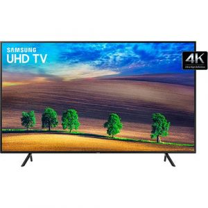 Smart TV LED 65 Samsung Ultra HD 4k UN65NU7100GXZD com Conversor Digital 3 HDMI 2 USB Wi-Fi Solução Inteligente de Cabos HDR Premium Smart Tizen