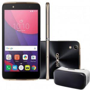 Smartphone Alcatel IDOL4 OT6055 + Óculos VR - Tela 5.2 Full HD, 4G, Câmera 13MP, Frontal de 8MP com flash, Octa Core, 16GB, 3GB RAM