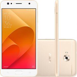 Smartphone Asus Zenfone 4 Selfie Dual Chip Android 7 Tela 5.5 Snapdragon 64GB 4G Câmera Traseira 16MP Dual Frontal 20MP + 8MP Dourado
