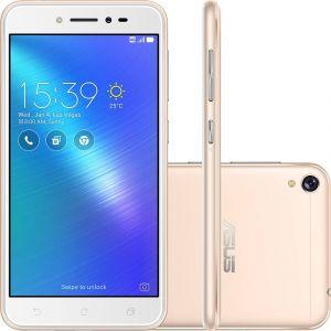 Smartphone Asus Zenfone Live Dual Chip Android 6.0 Tela 5 Snapdragon 16GB 4G Wi-Fi Câmera 13MP Dourado