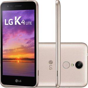 Smartphone LG K4 Lite Dual Chip Android 6.0 Tela 5.0 Quadcore 1.1GHz 8GB 4G Câmera 5MP Dourado