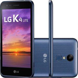 Smartphone LG K4 Lite Dual Chip Android 6.0 Tela 5.0 Quadcore 1.1GHz 8GB 4G Câmera 5MP Índigo
