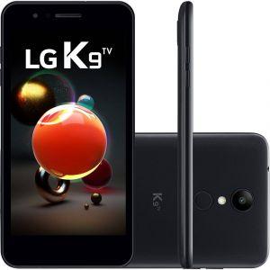 Smartphone LG K9 LMX210 TV com 16GB, Tela de 5.0 HD, Android 7.0, Dual Chip, 4G, Câmera 8MP, Processador Quad Core e 2GB de RAM Preto