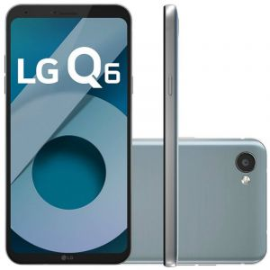 Smartphone LG Q6 LG M700TV Platinum 32GB 5,5 Dual Chip Octa Core 13MP 3GB RAM