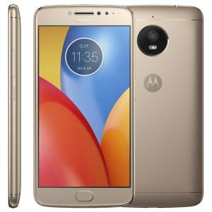 Smartphone Motorola Moto E4 Plus Dourado 16GB, Tela 5.5, Dual Chip, Android 7.0, Bateria 5.000 mAh, Câmera 13MP, Processador Quad-Core e 2GB RAM