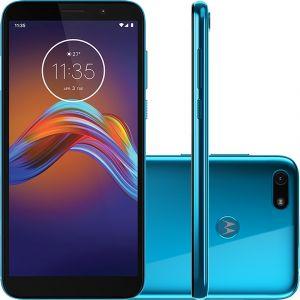 Smartphone Motorola Moto E6 Play 32GB, Tela Max Vision de 5.5, Câmera Traseira 13MP, Android 9.0, Quad-Core, Azul Metálico