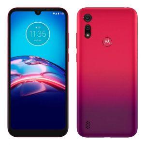 Smartphone Motorola Moto e6s 32GB, Tela Max Vision de 6.1, Câmera Traseira Dupla, Android 9.0, Processador Octa-Core e 2GB de RAM Vermelho Magenta
