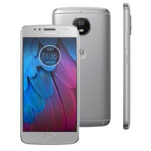 Smartphone Motorola Moto G5s XT1792 Prata com 32GB, Tela de 5.2, Dual Chip, Android 7.1, 4G, Câmera 16MP, Processador Octa-Core e 2GB de RAM