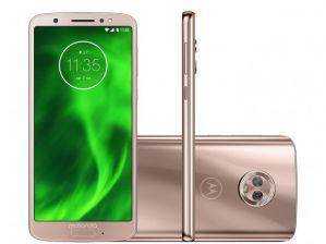 Smartphone Motorola Moto G6 64GB Dual Chip Android Oreo 8.0 Tela 5.7 Octa-Core 1.8 GHz 4G Câmera 12 + 5MP (Dual Traseira) Ouro Rose
