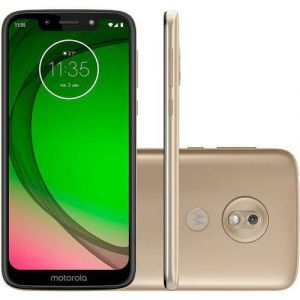 Smartphone Motorola Moto G7 Play 32GB Dual Chip Android Pie 9.0 Tela 5.7 1.8 GHz Octa-Core 4G Câmera 13MP Ouro