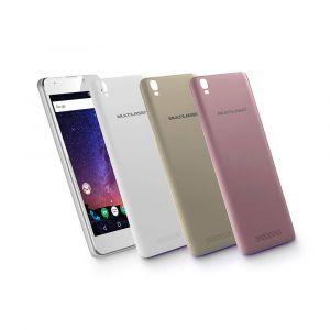 Smartphone MS55M 3G Tela 5.5 Android 7 Dual Chip Memória 16GB Bluetooth Multilaser Branco P9047