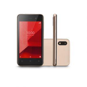 Smartphone Multilaser E Lite NB764 3G 16GB Dual Chip Android 8.1 Tela 4 Quad-Core Câmera 5MP Dourado