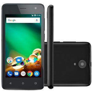 Smartphone Multilaser Ms45 4G 1Gb Preto Tela 4.5 Câmera 8 Mp Quad Core 8Gb Android 7.0 + Cartão de Memória de 32GB