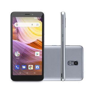 Smartphone Multilaser MS50G 3G Prata/Preto NB730 Tela 5.5 Android 8.1 Quad Core 1GB RAM