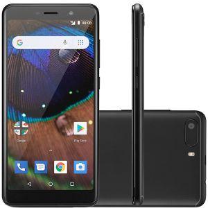 Smartphone Multilaser MS50X 4G Preto Quad Core 1GB RAM Tela 5,5 Dual Chip Android 8.1 Preto NB732