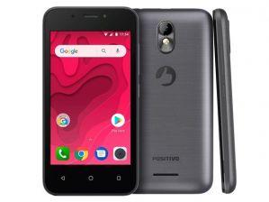 Smartphone Positivo Twist Mini S431 8GB Quad-Core 3G Dual Chip Android Oreo Tela 4 Grafite