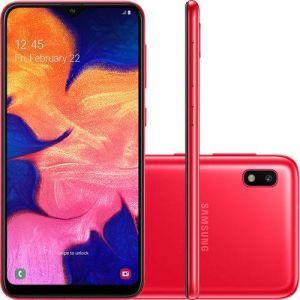 Smartphone Samsung Galaxy A10 32GB Dual Chip Android 9.0 Tela 6.2 Octa-Core 4G Câmera 13MP Vermelho
