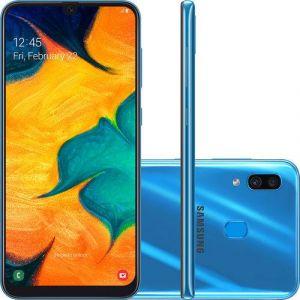 Smartphone Samsung Galaxy A30 64GB Dual Chip Android 9.0 Tela 6.4 Octa-Core 4G Câmera 16MP + 5MP Azul