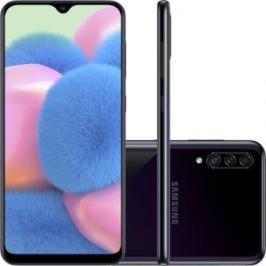 Smartphone Samsung Galaxy A30s 64gb Dual Chip Android 9.0 Tela 6.4 Camera Tripla 25Mp + 5Mp + 8Mp Preto