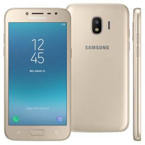 Smartphone Samsung Galaxy J2 Pro 16GB, Tela 5 Super AMOLED, Dual Chip, Câmera 8MP, Android 7.1, Processador Quad Core de 1.4 Ghz e 1.5GB RAM Dourado