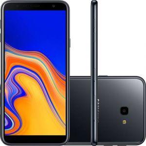 Smartphone Samsung Galaxy J4+ 32GB Dual Chip Android Tela Infinita 6 Quad-Core 1.4GHz 4G Câmera 13MP Preto