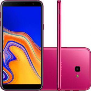 Smartphone Samsung Galaxy J4+ 32GB Dual Chip Android Tela Infinita 6 Quad-Core 1.4GHz 4G Câmera 13MP Rosa