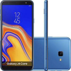 Smartphone Samsung Galaxy J4 Core 16GB Dual Chip Android Tela 6 Quad-Core 1.4GHz 4G Câmera 8MP Azul