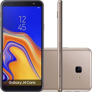 Smartphone Samsung Galaxy J4 Core 16GB Nano Chip Android Tela 6 Quad-Core 1.4GHz 4G Câmera 8MP Cobre