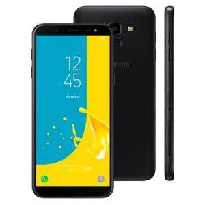 Smartphone Samsung Galaxy J6 32GB Dual Chip Android 8.0 Tela 5.6 Octa-Core 1.6GHz 4G Câmera 13MP com TV Preto