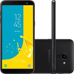 Smartphone Samsung Galaxy J6 64GB Dual Chip Android 8.0 Tela 5.6 Octa-Core 1.6GHz 4G Câmera 13MP TV Digital Preto