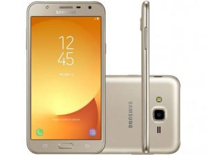 Smartphone Samsung Galaxy J7 Neo J701 TV Digital HD, Dual Chip,Tela 5.5, Câmera 13MP+5MP Frontal Flash LED, OctaCore 1.6GHz, 16GB, 2GB RAM, Android 7, Dourado