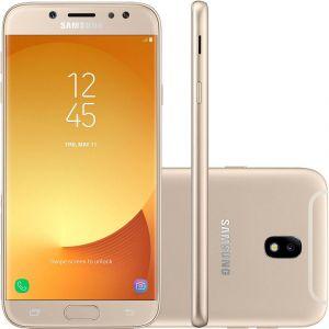 Smartphone Samsung Galaxy J7 Pro Android 7.0 Tela 5.5 Octa Core 64GB 4G WiFi Câmera 13MP  Dourado